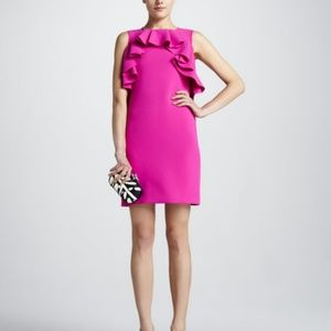 DVF Cocktail/ Event dress! Pink, ruffle sheer back